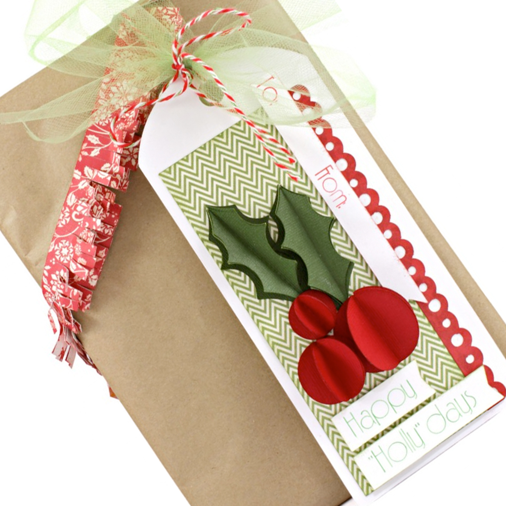 3D Holly Berry Tag