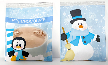 Pazzles DIY Hot Chocolate Wrapper with SVG download. Compatible with all major electronic cutters including Pazzles Inspiration, Cricut, and Silhouette Cameo. Design by Lisa Reyna.