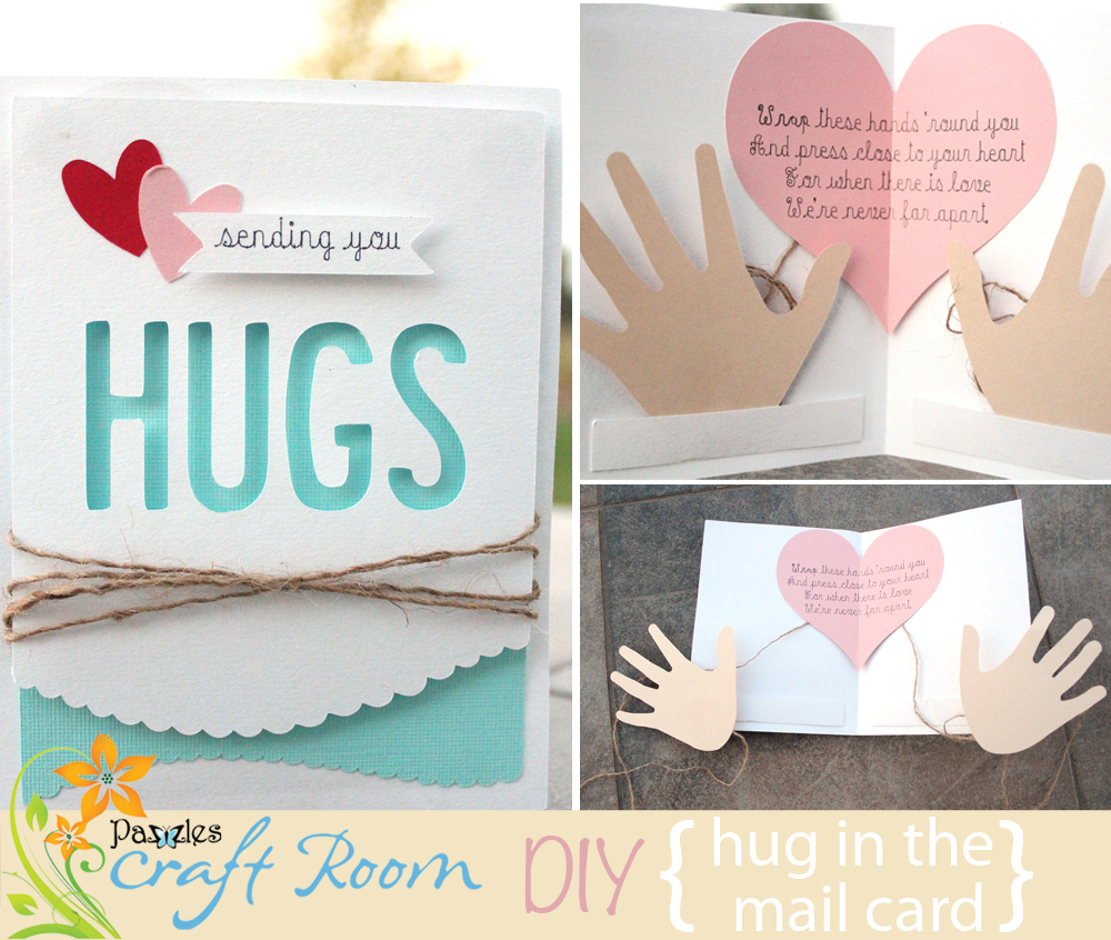 Hug In the Mail Card - Pazzles Craft Room