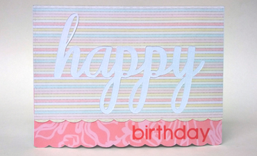 Inlaid Birthday Card