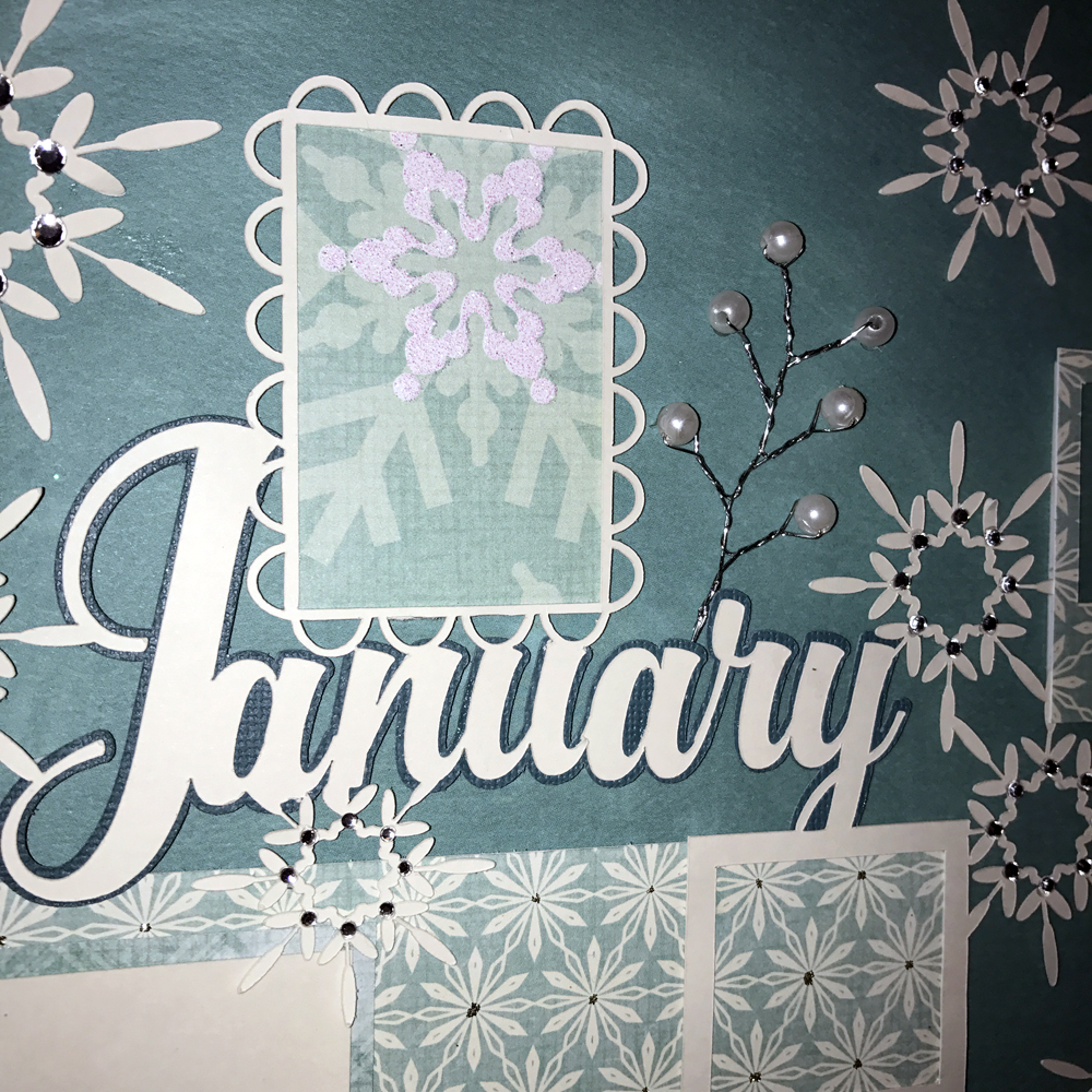 12 Days of Memories: January made with the Pazzles Vue