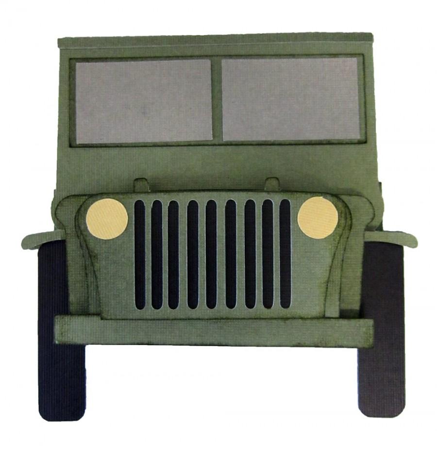 Jeep Shaped Card