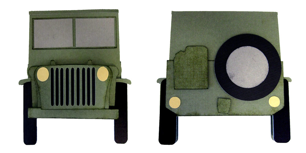 Jeep Shaped Father's Day Card