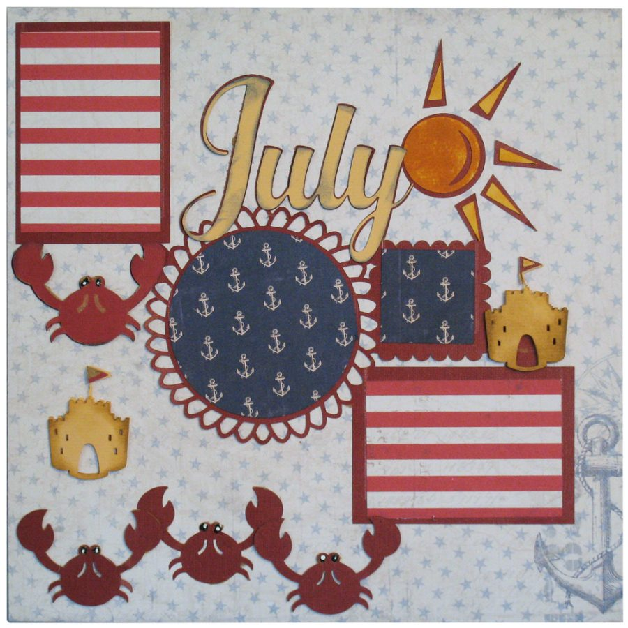 July Scrapbook Page