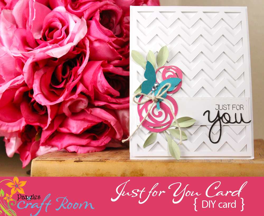 Just for you card pazzles craft room i loved the celebration card i made last week so much but this week i had a birthday card that i needed to mail and therefore lay flat m4hsunfo