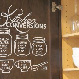 Kitchen Conversion Chart | Kitchen Conversion Chart Pazzles Craft Room