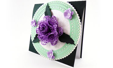 Lacy Rose Doily Card