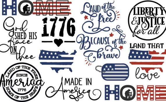 Pazzles DIY Land that I Love Collection for Fourth of July with 20 cuttable files in SVG, AI, and WPC. Instant SVG download compatible with all major electronic cutters including Pazzles Inspiration, Cricut, and Silhouette Cameo. Design by Amanda Vander Woude.