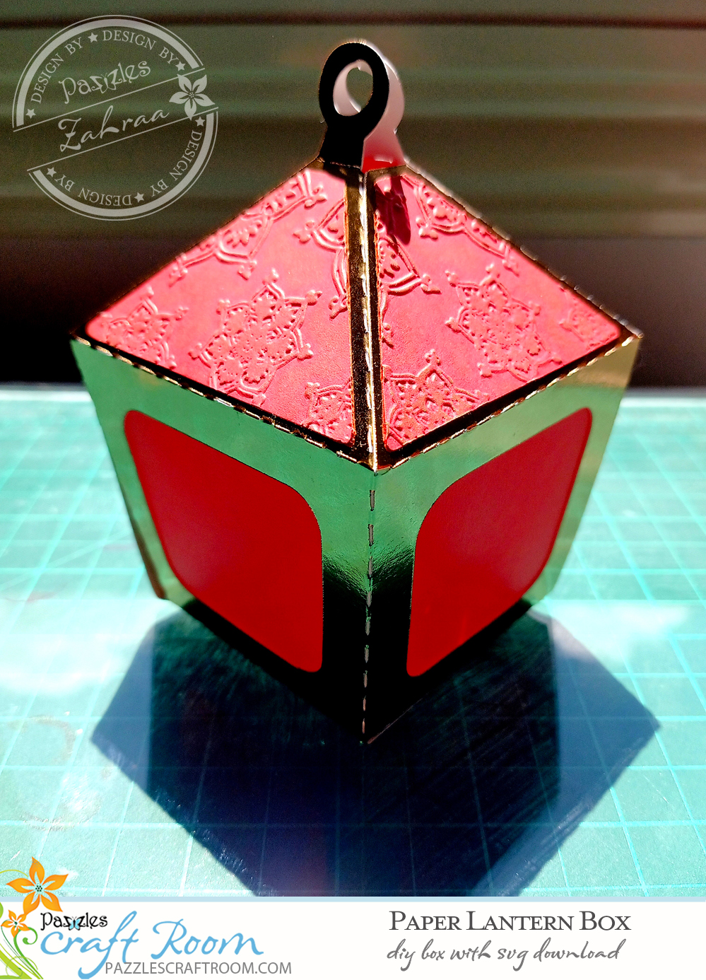 Pazzles DIY Lantern Box with instant SVG download. Instant SVG download compatible with all major electronic cutters including Pazzles Inspiration, Cricut, and Silhouette Cameo. Design by Zahraa Darweesh.