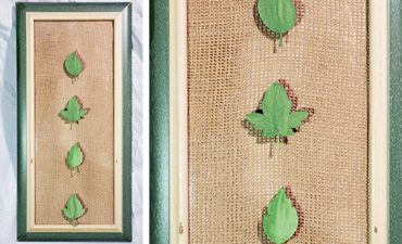 Pazzles DIY Leaf Clip Photo Frame with instant SVG download. Compatible with all major electronic cutters including Pazzles Inspiration, Cricut, and SIlhouette Cameo. Design by Renee Smart.