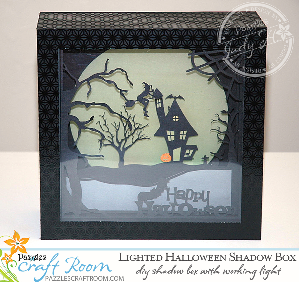 Pazzles DIY Lighted Halloween Shadow Box by Judy Hanson