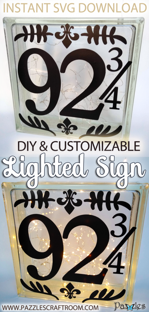 Pazzles Home Decor Lighted DIY House Number by Renee Smart