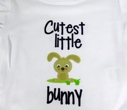 Pazzles DIY Cutest Little Bunny Onesie with instant SVG download. Compatible with all major electronic cutters including Pazzles Inspiration, Cricut, and Silhouette Cameo. Design by Julie Flanagan.