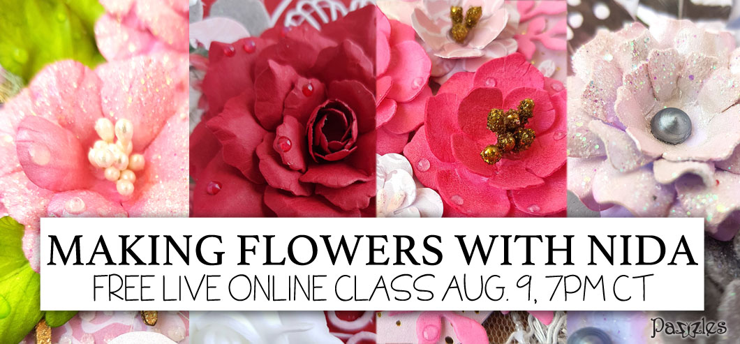 Pazzles Paper Flower Tutorial with Nida Tanweer