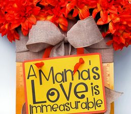 Pazzles DIY Mamas Love Flower Hanger with instant SVG download. Instant SVG download compatible with all major electronic cutters including Pazzles Inspiration, Cricut, and Silhouette Cameo. Design by Renee Smart.