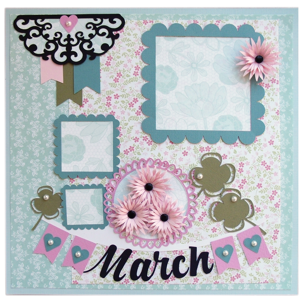 12 Days of Memories: March made with the Pazzles Inspiration Vue