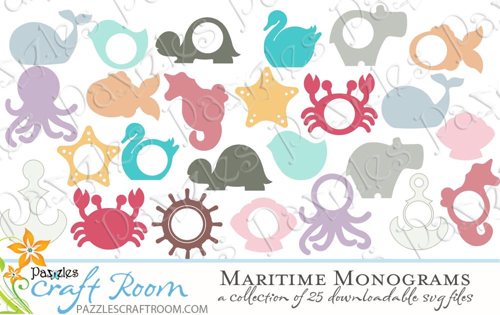 25 Downloadable Ocean Themed Monograms