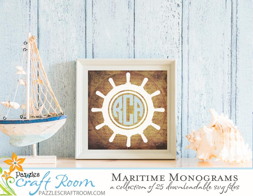 DIY Beach Decor Ship Helm Monogram