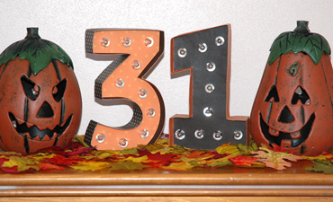 Halloween Marquee Numbers