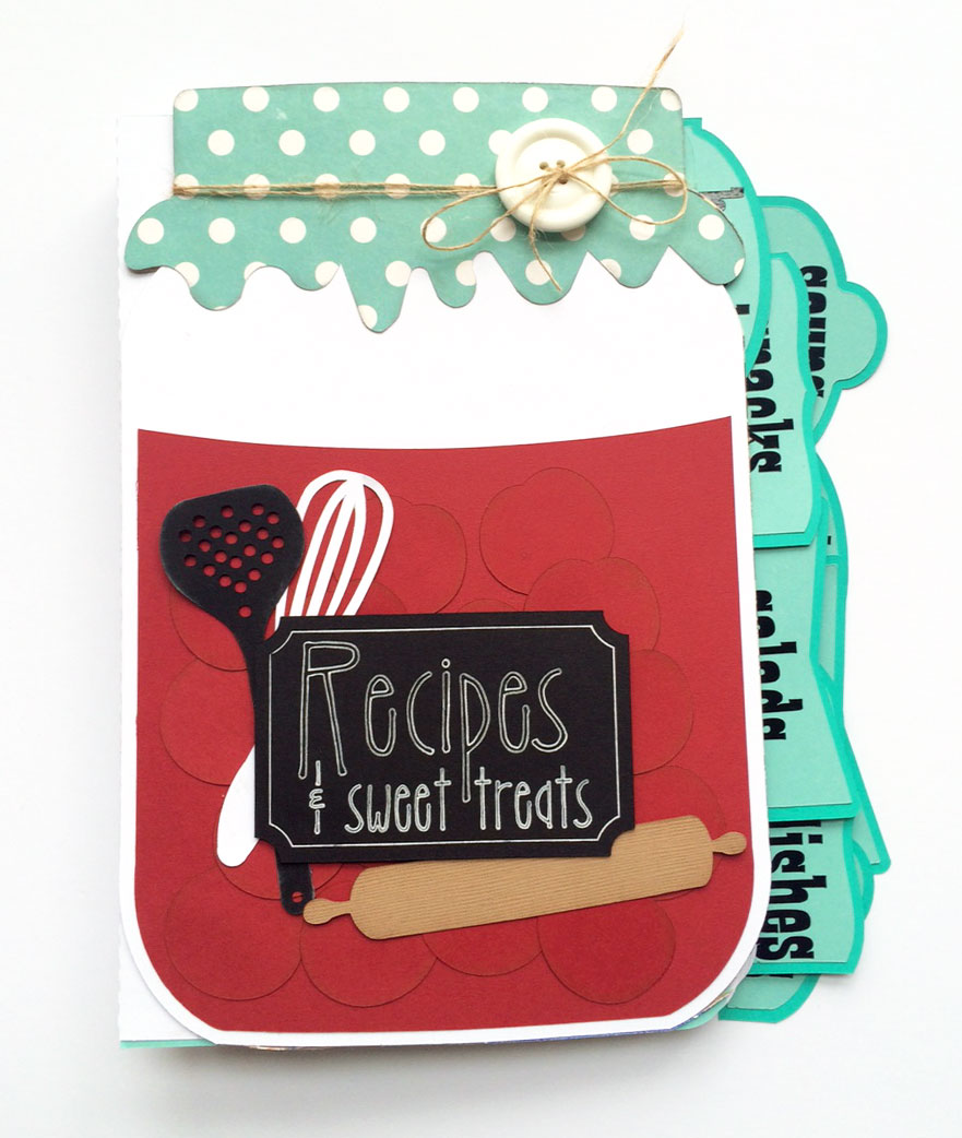 Mason Jar Recipe Book Mini Album Pazzles Craft Room