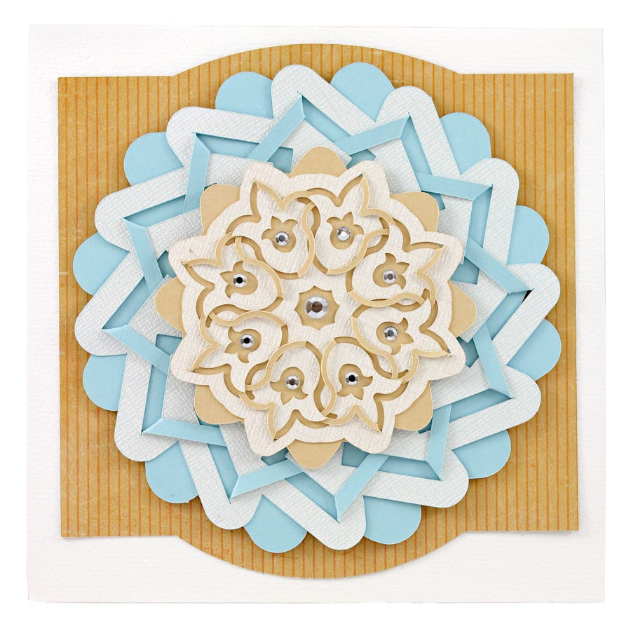 Cut and Fold Medallion Card