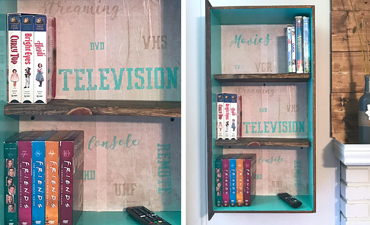 DIY Media Shelf