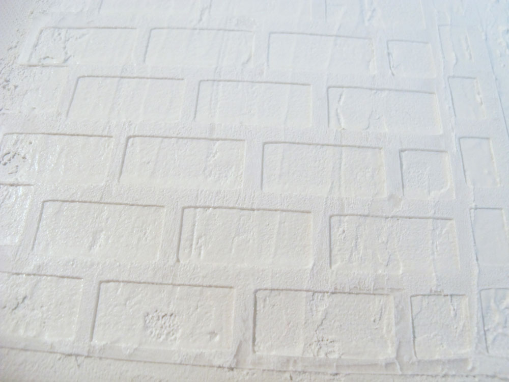 Mixed Media Brick Wall Gesso