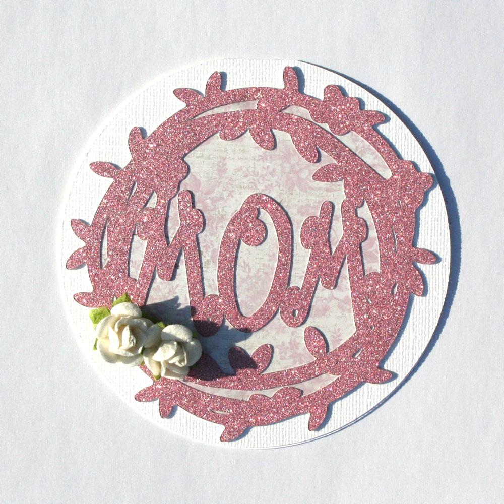 monogram mom card