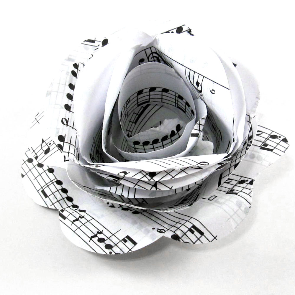 Musical Paper Rolled Rose