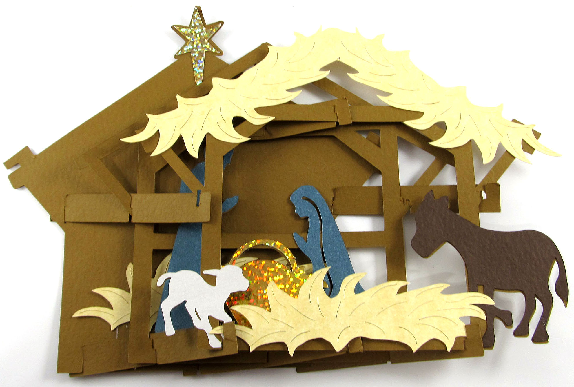 Nativity Sliceform made with the Pazzles Inspiration Vue - SVG file available!