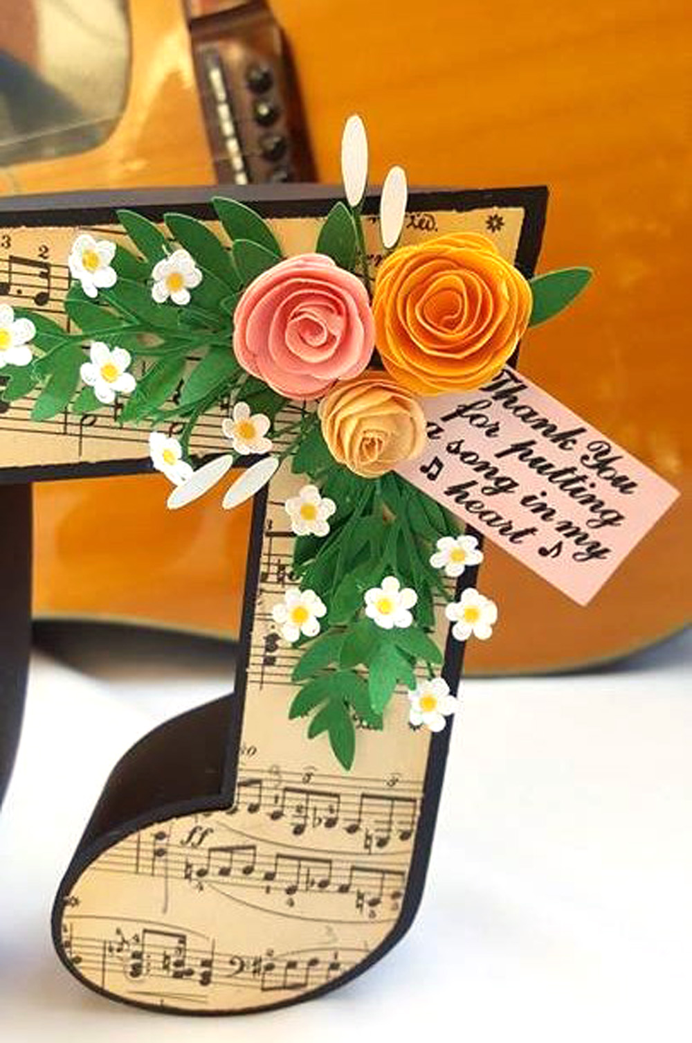 Music note box pazzles craft room the roses on the top are made using the twirled flower file in the library the other flowers and greenery are included in the file mightylinksfo