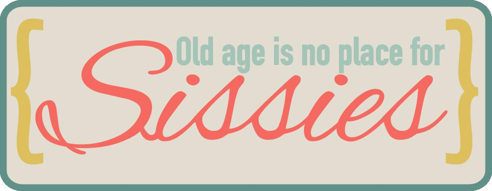 Old Age Sissie Scrapbook Title Free Cut File