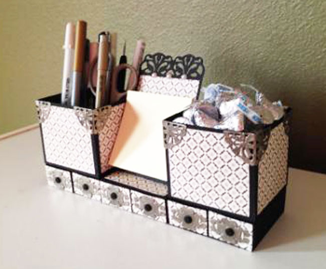 Paper Desk Organizer Cutting Files