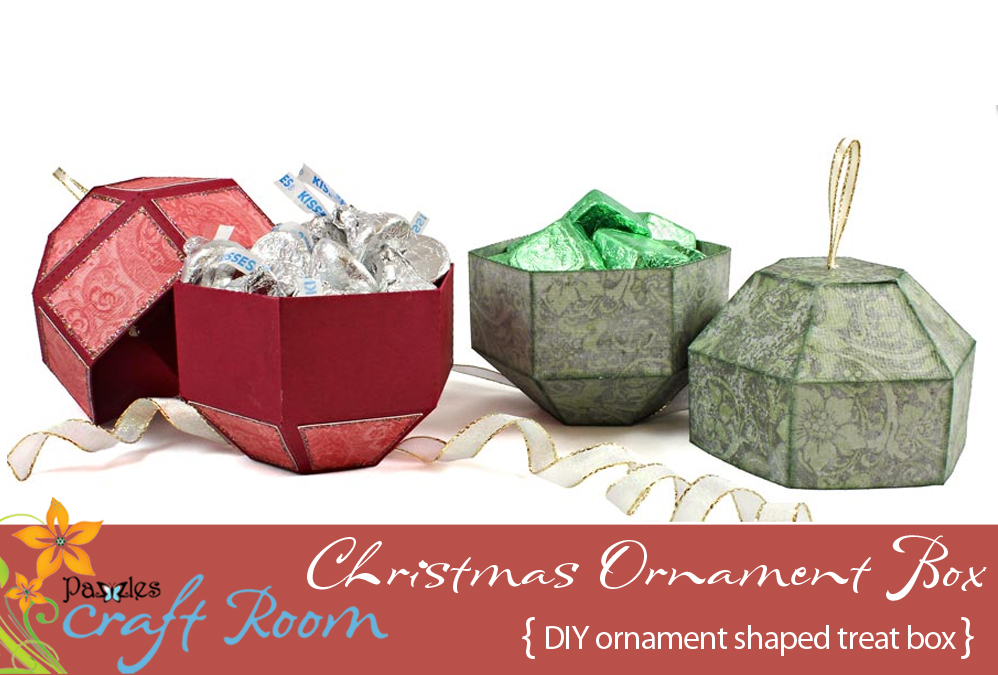 Since we are all in a holiday mood it did not take long to see its  potential as an ornament. I reduced the size and turned it into a box to  create the ... - Christmas Ornament Box - Pazzles Craft Room
