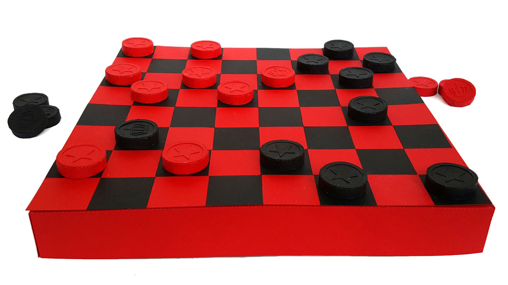 Paper Checkers Set