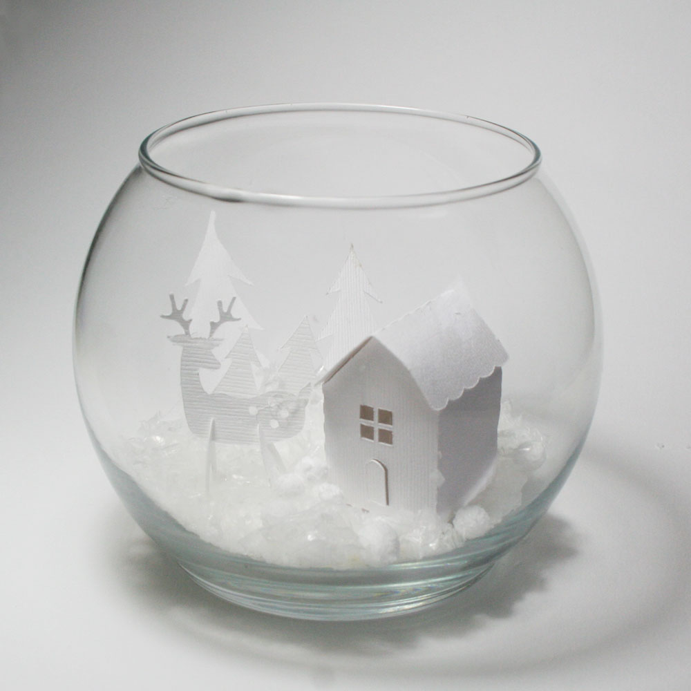 Paper Snow Globe Christmas Project