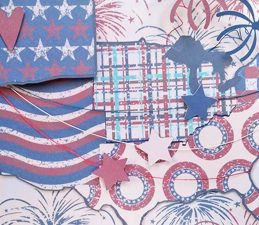 Pazzles DIY Patriotic Photo Clip Block with instant SVG download. Compatible with all major electronic cutters including Pazzles Inspiration, Cricut, and Silhouette Cameo. Design by Renee Smart.