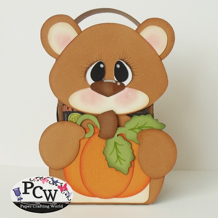Bear with Pumpkin Box