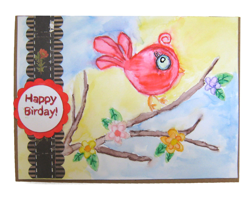 Drawing Lines With The Pen Tool : Pen tool happy birthday water color card pazzles craft room