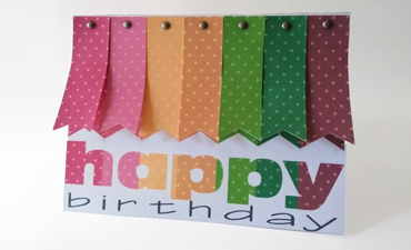 Pennant Birthday Card
