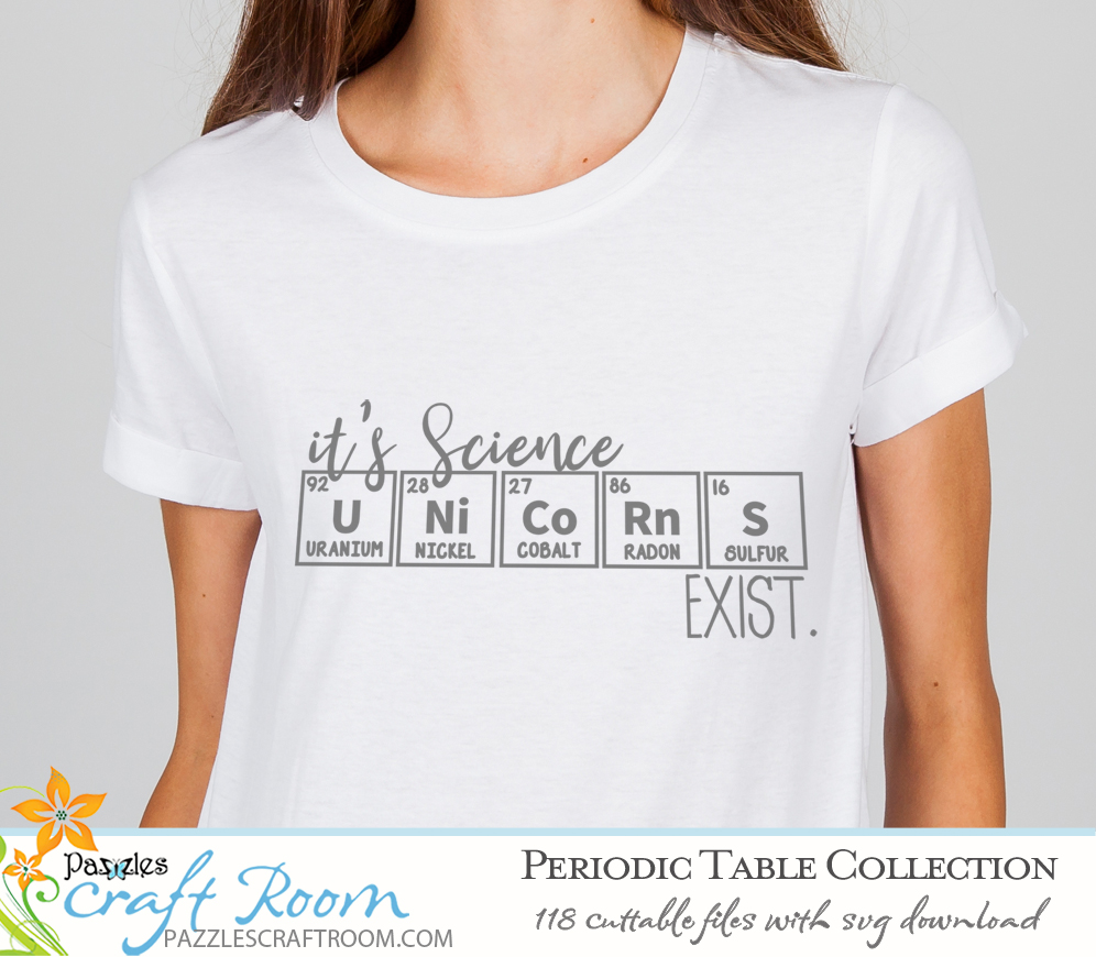 Pazzles DIY Periodic Table Cuttable SVG files for crafts. Instant download compatible with all major electronic cutters including Pazzles Inspiration, Cricut, and Silhouette Cameo.