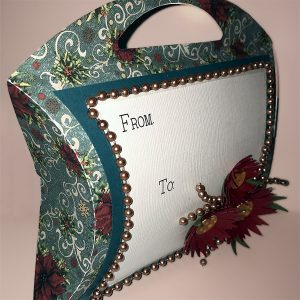 Poinsettia Pillow Purse made with the Pazzles Inspiration