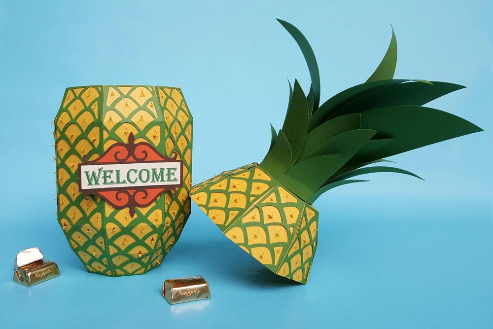 Pineapple Box Cut Files. A fun luau favor idea.
