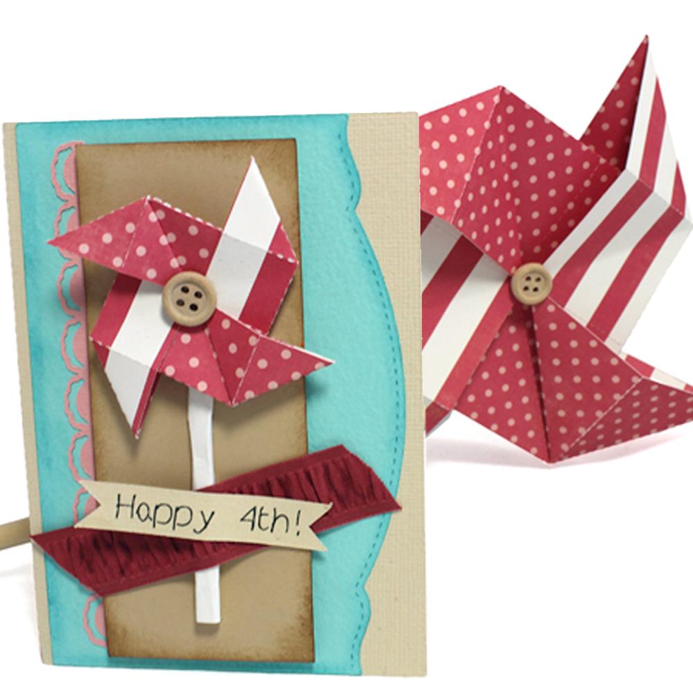 Origami Pinwheel and Card