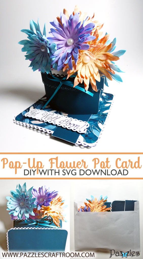 Pazzles DIY Pop Up Flower Pot Card by Julie Flanagan
