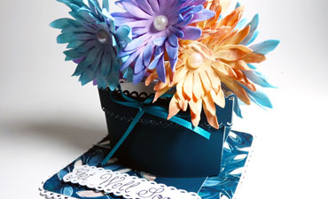 Pop Up Flower Pot Card