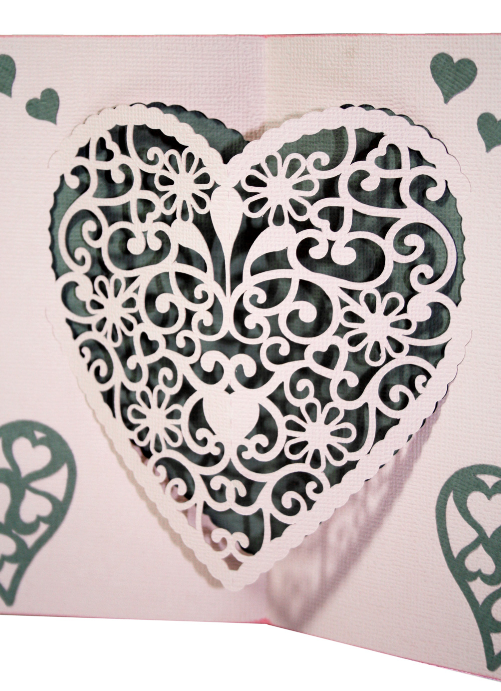 Pop Up Doily Heart Card