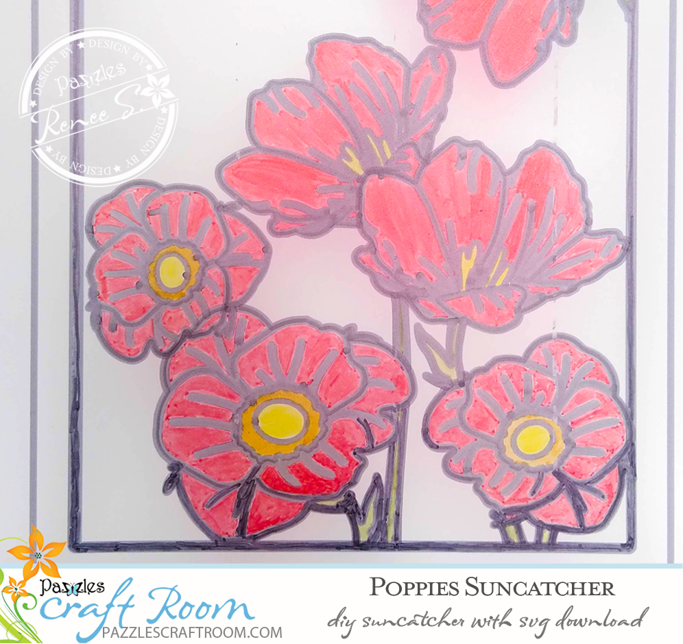 Pazzles DIY Sun Catcher with instant SVG download. Compatible with all major electronic cutters including Pazzles Inspiration, Cricut, and Silhouette Cameo. Design by Renee Smart.