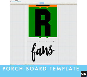 Making Porch Signs with Pazzles Template