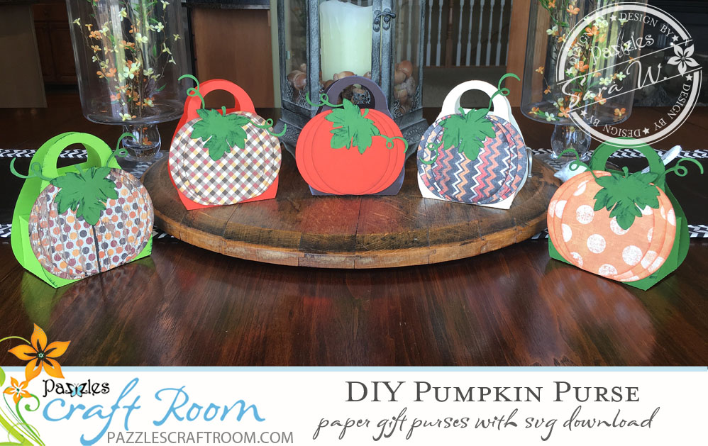 Pazzles DIY Pumpkin Purse by Sara Weber